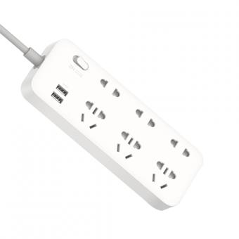 XIAOMI ZMI Power Strip 6 Socket 2 USB Ports 18W